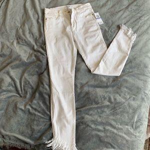 Frame white denim jeans